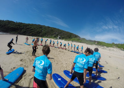 School Groups Surfing