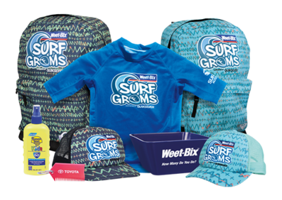 Weetbix SurfGroms Quiksilver Pack